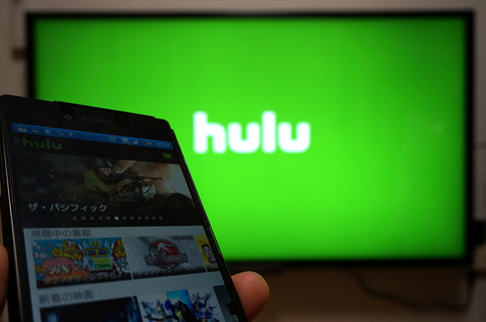 Huluをクロームキャストでテレビ視聴
